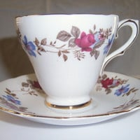 Vintage Sutherland Staffordshire china teacup set
