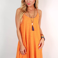 Sherbet Sunsets Tank Dress in Apricot