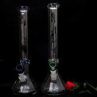 17.5Inches Recycler Glass R Beaker Bongs Hookahs Oil Rigs Glass Smoking Water Pipes Tall 45cm 18.8mm Joint Straight Type