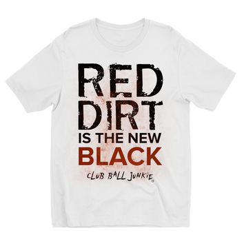 Red Dirt is the New Black Kids Sublimation T shirt for baseball or softball fans