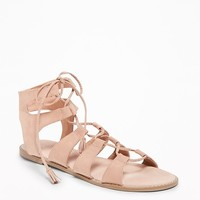 Lace-Up Gladiator Sandals for Women  old-navy