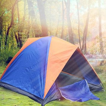 Outdoor Tent 200 x 150cm 2 Person Camping Tent Double Layers Water Resistant Beach Tent for Fishing Camping Hiking