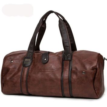 Cheer Vintage Leather Duffle Bag