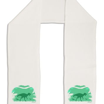 "Dinosaur Silhouettes - Jungle Adult Fleece 64"" Scarf by TooLoud"