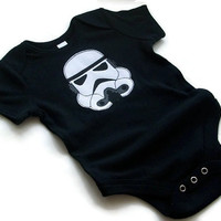 Imperial Stormtrooper Baby Bodysuit - Onesuit - Star Wars Baby - Available to Custom Order