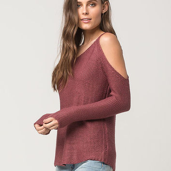 RAZZLE DAZZLE Cold Shoulder Womens Sweater | Pullovers