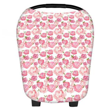 Floral Styles Multi-Use Nursing Cover, Baby Car Seat Canopy & Shopping Cart Cover