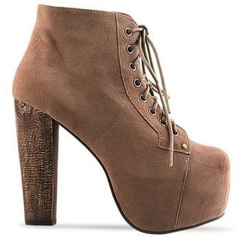 Jeffrey Campbell Lita Taupe Suede