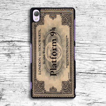 ticket london to hogwarts Sony Xperia Case, iPhone 4s 5s 5c 6s Plus Cases, iPod Touch 4 5 6 case, samsung case, HTC case, LG case, Nexus case, iPad cases