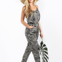 Kayla Palm Print Jumpsuit