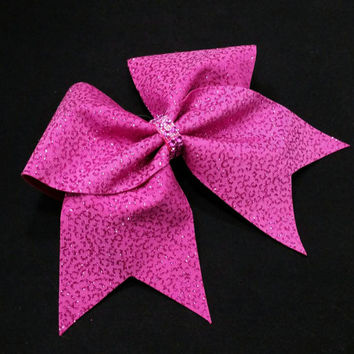 Cheer bow, Pink cheer bow, glitter cheer bow, cheerleading bow, cheerleader bow, softball bow, pop warner cheer bow, dance bow, Cheerbow