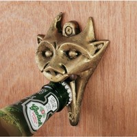 Design Toscano Authentic Iron Gargoyle Halloween Bottle Opener