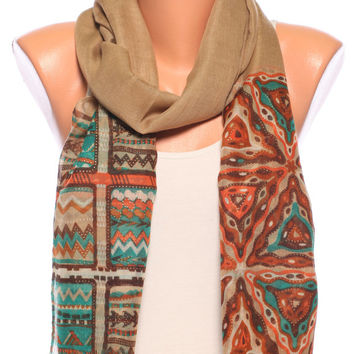 Womens Scarves aztec scarf ladies scarves spring scarf Summer Scarves womens clothing beach perfect Gift Womens Fashion scarves