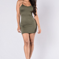 Think Of Me Dress - Dark Olive