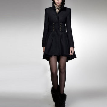 winter coat/ black coat/cashmere coat/ wool coat/winter by FM908