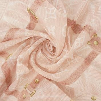 [No.47822]Authentic Louis Vuitton, monogram scarf,pink,
