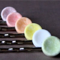 Hair Candy Bobby Pins Made with Real Smarties, Pick Any 3 | DirtRoadSouth - Accessories on ArtFire