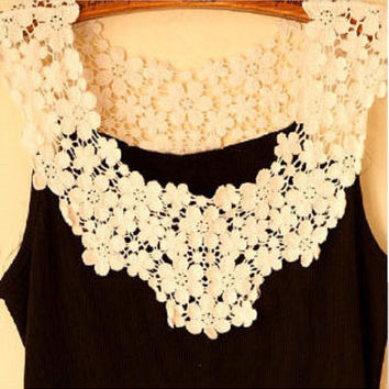 Fashion Crochet  Lace Women's Tank 2017 Summer Sleeveless Women Tank Top Fitness Tops Women Tank Vest  BX5