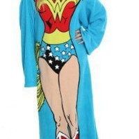 DC Comic Wonder Woman, Being Wonder Woman 48-Inch-by-71-Inch Adult Comfy Throw with Sleeves by The Northwest Company