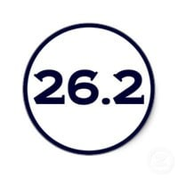 Round 26.2 Marathon Sticker from Zazzle.com