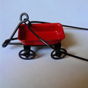 3-D Little Red Wagon Necklace