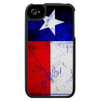 Grunge Style Texas Flag Case For The iPhone 4 from Zazzle.com