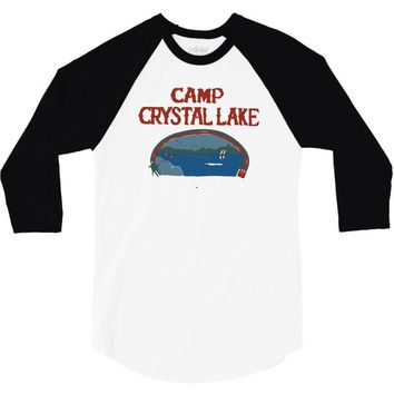 camp crystal lake 3/4 Sleeve Shirt