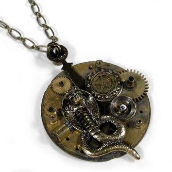 Steampunk Necklace by edmdesigns BRASS Pocket Watch by edmdesigns