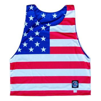 American Flag Sublimated Reversible Dye-Sub Pinnie