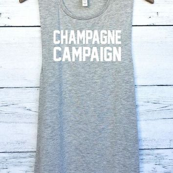 ac NOVQ2A Champagne Campaign Muscle Tank Top