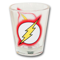The Flash Glitter Logo Shot Glass