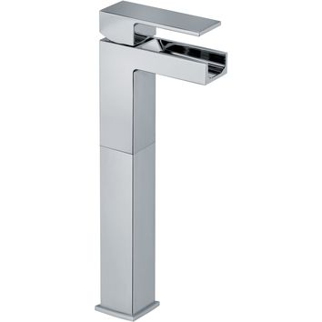 Kome waterfall single handle Bathroom vessel filler tall faucet (1.2 GPM)