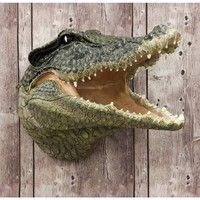 Crocodile Attack Plaque - 3D Wall Trophy
