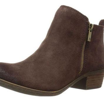 DCCKAB3 Lucky Brand Basel Java Oiled Suede Booties