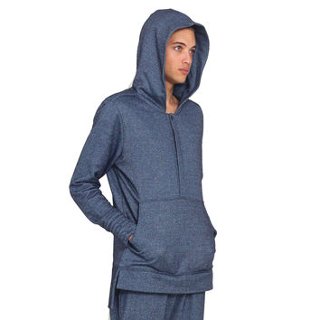 Genii Hoodie In Medium Blue