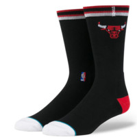 Men's Chicago Bulls Casual Arena Socks, Black-Stance