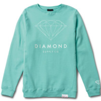 Diamond Brilliant Crewneck In Diamond Blue
