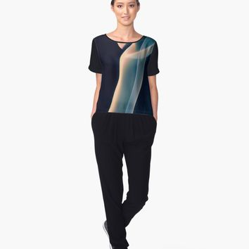 'Hooked' Women's Chiffon Top by Carmen Ray Anderson