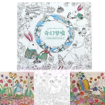 Alice In Wonderland Adult Colouring Book By Amily Shen An Inky Treasure Hunt