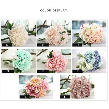 One Bouquet of Artificial Fake Flowers Leaf Magnolia Floral Crafts
