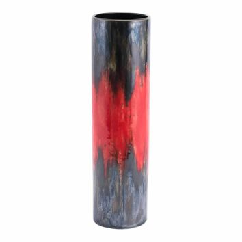 Lava Large Vase Black & Red