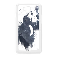 Wolf Song 3 White Hard Plastic Case for LG L90 by Balazs Solti