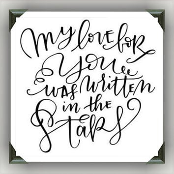 """Love written in the Stars Painted/Decorated 12""""x12"""" Canvases - you pick colors"""