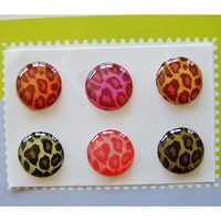 """Home"" Button Sticker for iphone/ipad/itouch, Leopard, 6-in-1 pack"