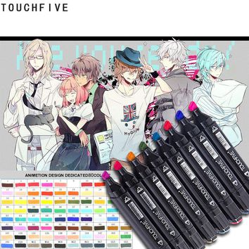 TOUCHFIVE Marker Double Headed Sketch Copic Marker Set 80 Colors Manga Art Markers paint marker for drawing liners art supplies