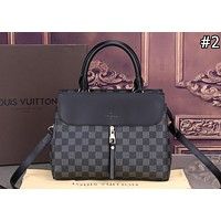 LV Louis Vuitton fashion women's color contrast old flower casual handbag shoulder diagonal package #2