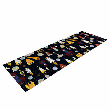 "Stephanie Vaeth ""Rockets"" Celestial Pattern Yoga Mat"