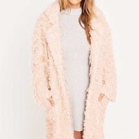 Minkpink Just Obsessed Pink Coat - Urban Outfitters