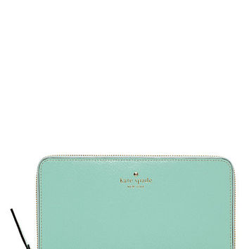 Kate Spade Grand Street Zip Travel Wallet Robins Egg ONE