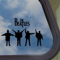 The Beatles Black Decal Car Truck Bumper Window Sticker
